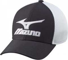 Mizuno Phantom Fitted Cap - Black/White
