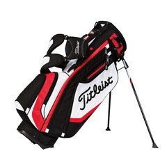 Titleist Lightweight Stand Bag - Black/White/Red