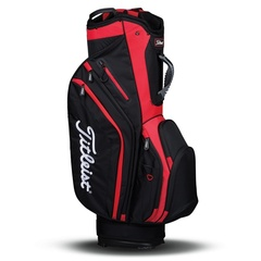 Titleist Lightweight Cart Bag - Black/Red