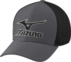 Mizuno Phantom Fitted Cap - Charcoal/Black