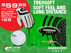 Bridgestone Golf - Treosoft dozen + Free glove