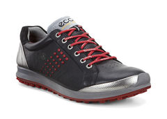 ECCO Men's Biom Hybrid 2 Golf Shoe - Black/Brick