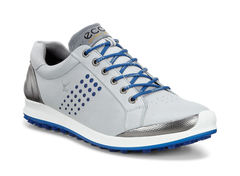 ECCO Men's Biom Hybrid 2 Golf Shoe - Concrete/Royal