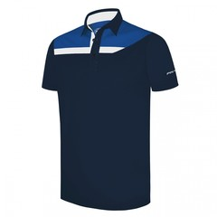 Pin High Men's Carter Polo Shirt - Iron Blue/Blue Solar/ White
