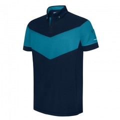 Pin High Men's Garreth Polo Shirt - True Navy /Yosemite Blue