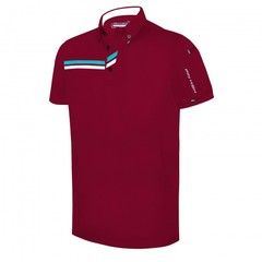Pin High Men's Matthew Polo Shirt - Gym Red/ White/ Capri