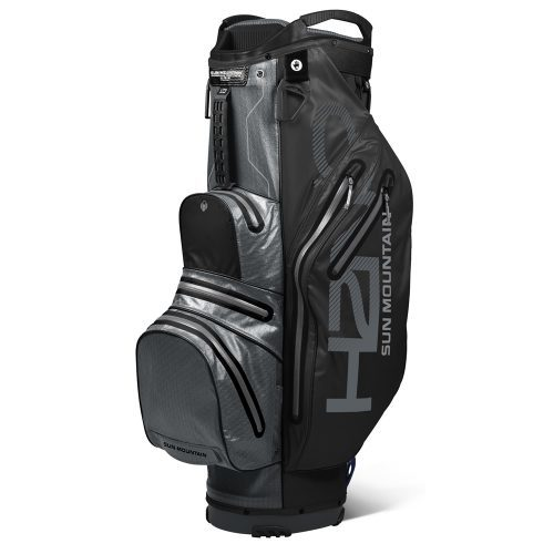 Sun mountain h2no 2019 lite cart bag black gunmetal grey 500x500